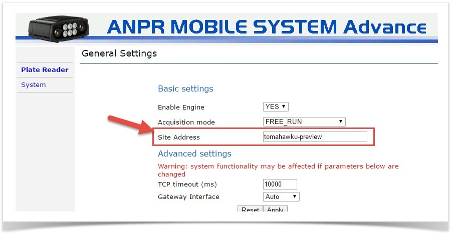 Configuring TCP Events on LPR Cameras - OPS-COM Parking